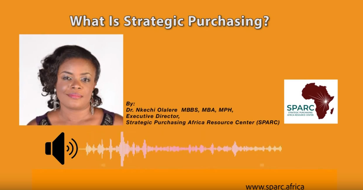 What is Strategic Health Purchasing?