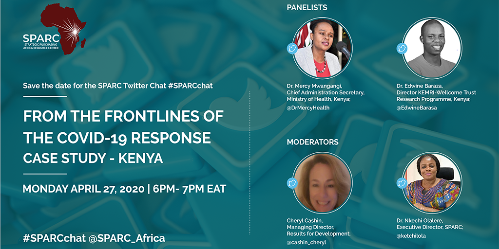 First #SPARCchat – From The Frontlines of The COVID19 Response In Kenya