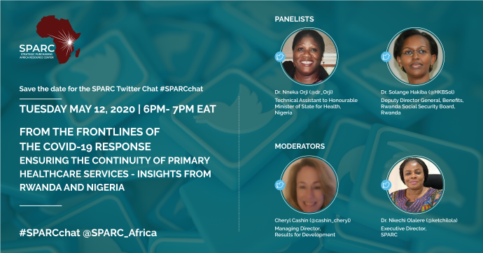 Curated Tweets From #SPARCchat On Maintaining Primary Healthcare Services During The COVID-19 Pandemic