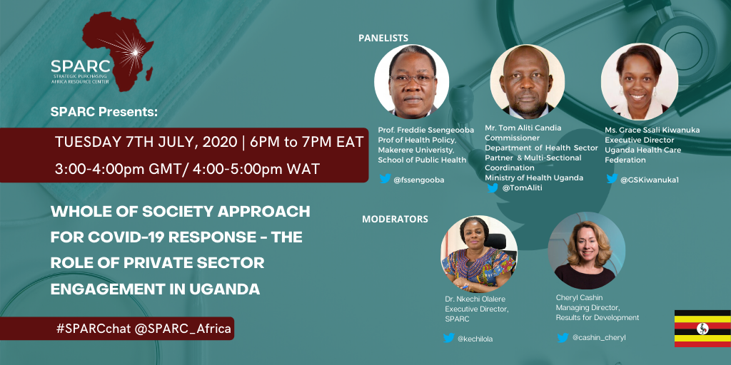 Curated Tweets From SPARCchat IV – Whole of Society Approach for COVID-19 Response – The Role of Private Sector Engagement in Uganda