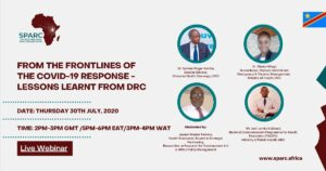 Live Webinar: From the frontlines of the COVID-19 Response - Lessons learnt from Democratic Republic of Congo (DRC)