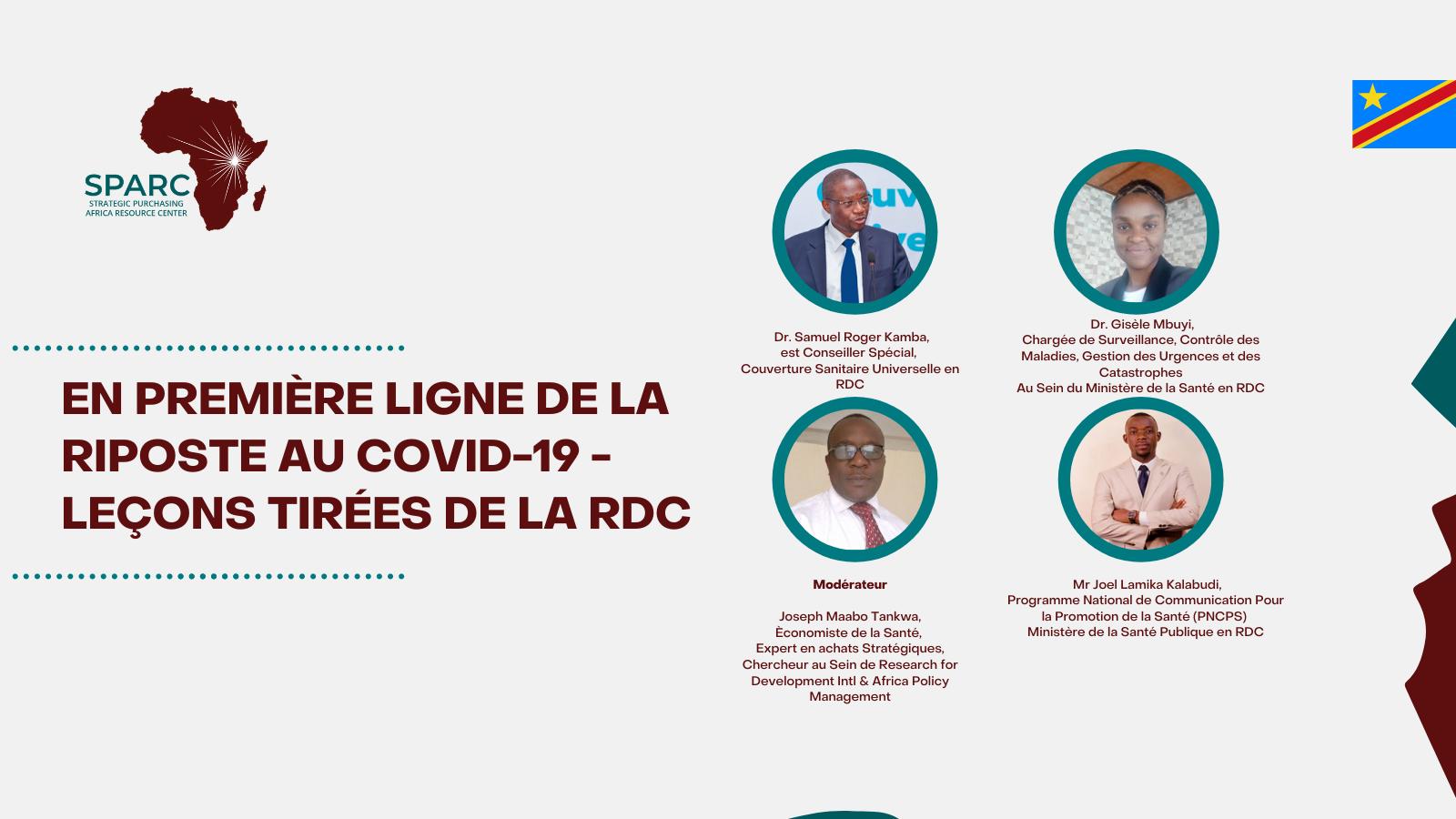 En première ligne de la riposte au COVID-19 – Leçons tirées de la RDC