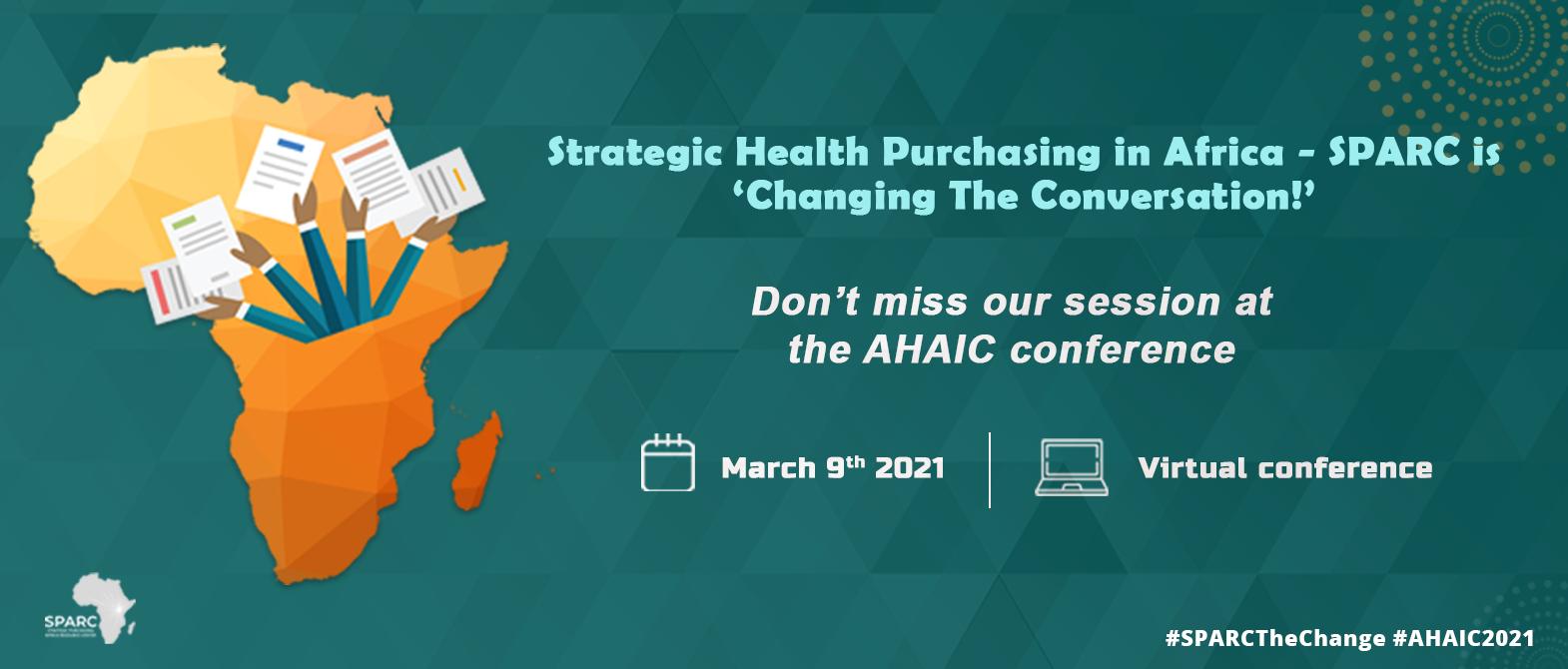 SPARC at AHAIC 2021 Virtual Conference