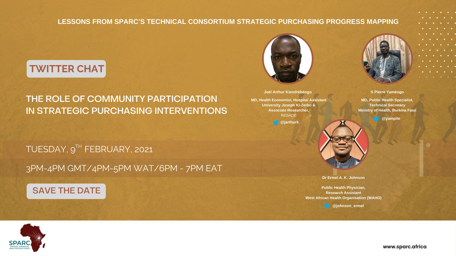 Key Messages from SPARCchat X 'The Role of Community Participation in Strategic Purchasing Interventions'