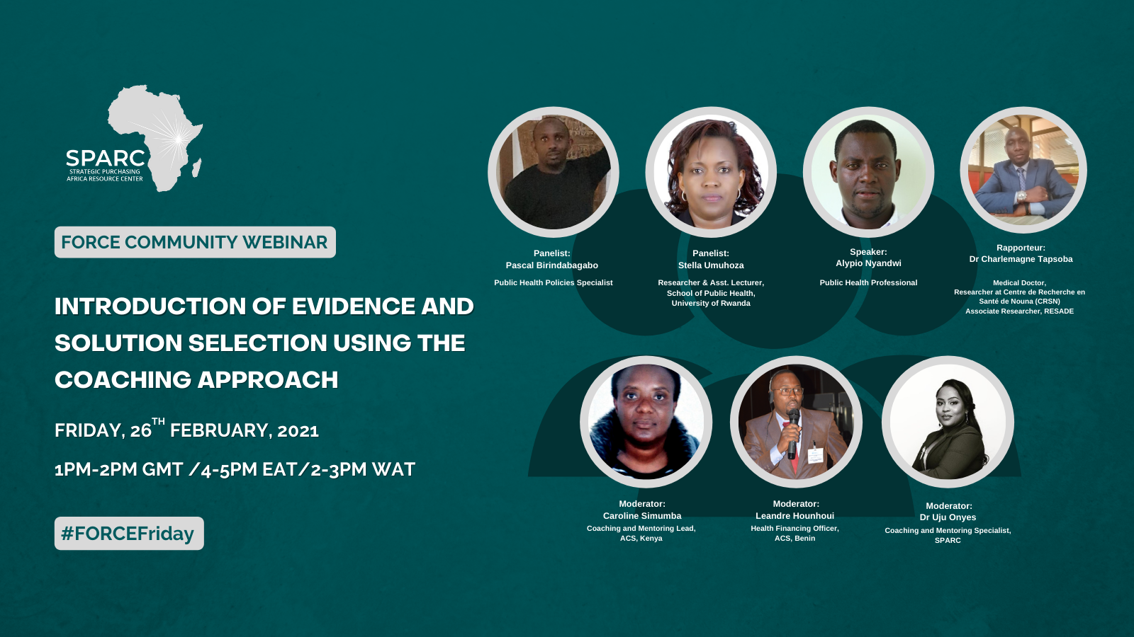Key Messages from the February FORCE Community Webinar – Introduction of Evidence and Solution Selection Using the Coaching Approach.