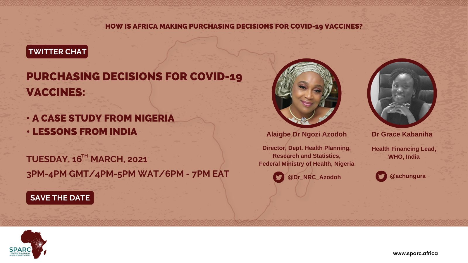Key Messages from SPARCchat XI 'Purchasing Decisions for COVID-19 Vaccines: A Case Study from Nigeria and Lessons from India'