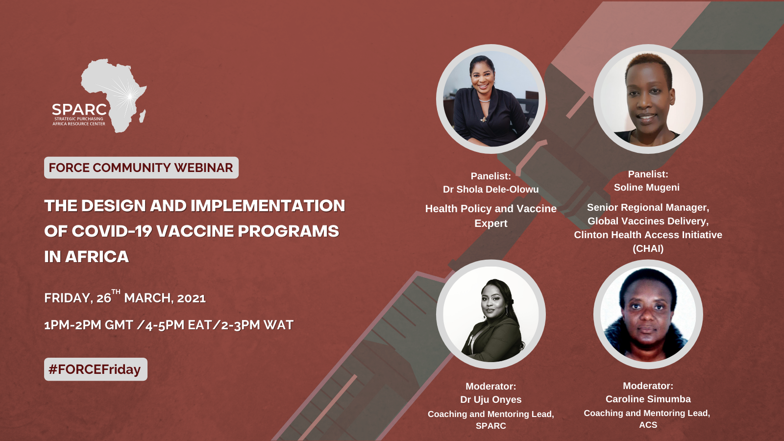 Key Messages from the March FORCE Community Webinar – The Design and Implementation of COVID-19 Vaccine Programs in Africa