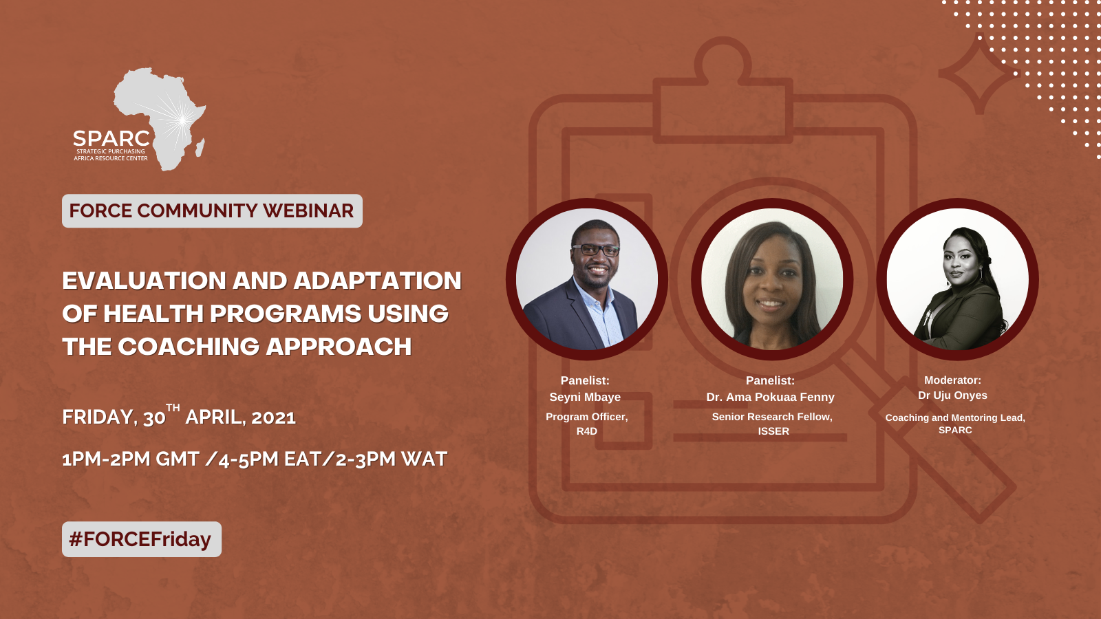 Key Messages from the April FORCE Community Webinar: Evaluation and Adaptation of Health Programs Using the Coaching Approach