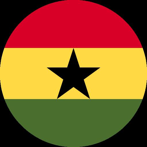ghana flag circle