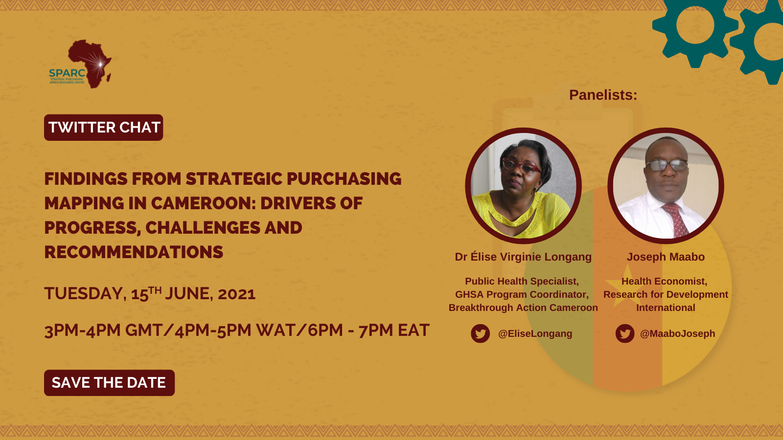Curated Tweets from SPARCchat 14: 'Findings from Strategic Purchasing Mapping in Cameroon: Drivers of Progress, Challenges and Recommendations'