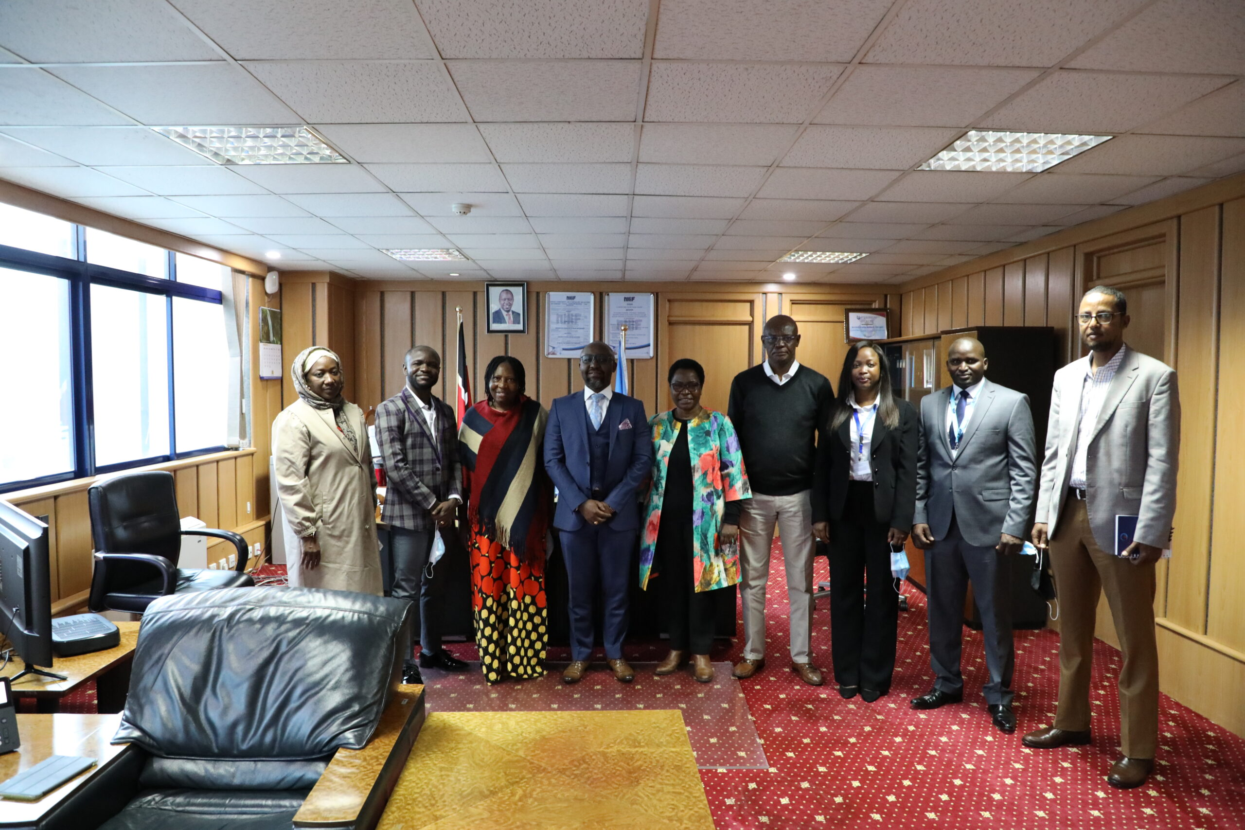 A Visit for the National Health Insurance Scheme (NHIS) Nigeria on a Study Tour of the National Health Insurance Fund (NHIF) in Kenya
